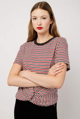 Azalea Stripe Front Twist Tee