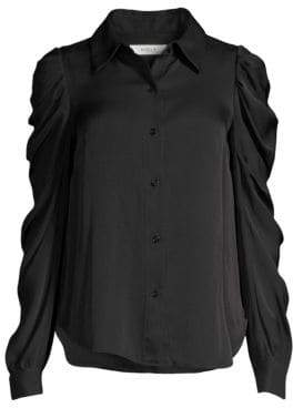 Milly Charlie Puff Sleeve Top