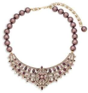 Heidi Daus Faux Pearl and Pavé Crystal Necklace
