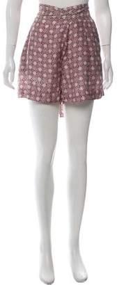 Apiece Apart Silk Printed Mini Shorts