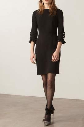 Donna Morgan Button Sleeve Dress