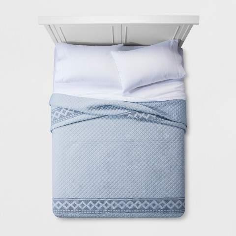 Blue Chambray Stitch Quilt