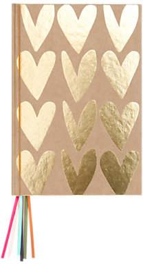 Caroline Gardner Hearts Multi Ribbon Notebook