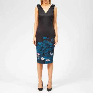 Ted Baker Women's Dinina Wonderland Bow Bodycon Dress