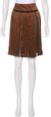 Chloé Pleated Sheer Mini Skirt