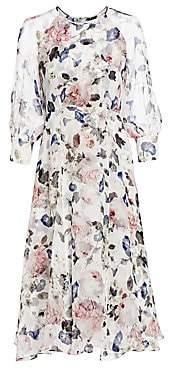 Erdem Women's Yursa Floral Silk Midi Dress