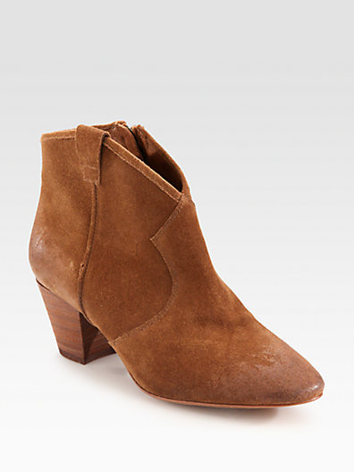 Ash Western Suede Ankle Boots
