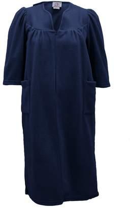Silverts Disabled Elderly Needs Womens Warm Open Back Adaptive Fleece Robe - House Coat