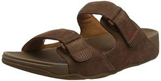 FitFlop Men's Gogh Moc Leather Open Toe Sandals, (Chocolate Brown 167), 9 (43 EU)