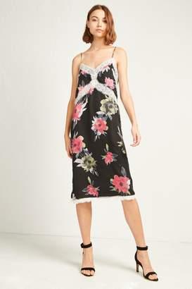 French Connenction Edith Satin Devore Slip Dress