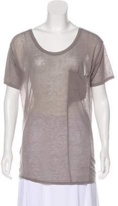 Helmut Lang Semi-Sheer Short Sleeve Top