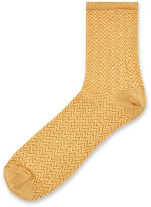 Topshop Slinky Chevron Socks