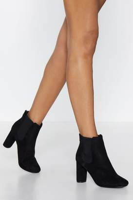 Nasty Gal Faux Suede With Me Heeled Boot