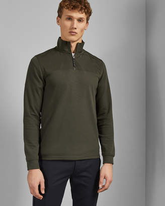 Ted Baker HILL Nylon trim half zip jumper