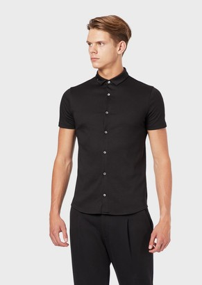 Emporio Armani Short-Sleeved Shirt In Cotton Jersey