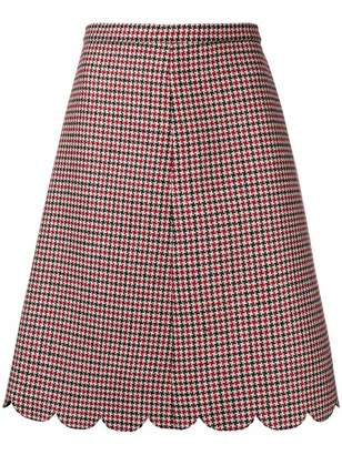 RED Valentino check a-line skirt