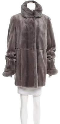 Neiman Marcus Sheared Mink Fur Coat
