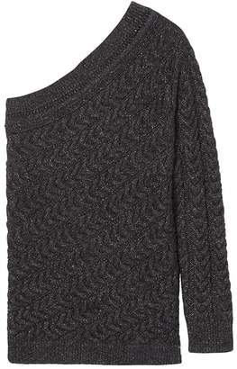 Banana Republic Heritage Shine One-Shoulder Pullover