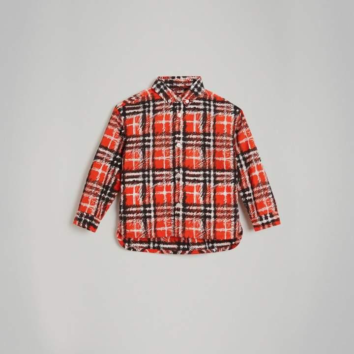 Scribble Check Button-down Collar Shirt