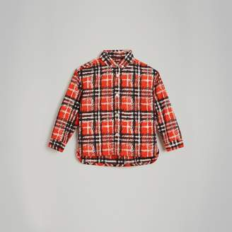 Burberry Scribble Check Button-down Collar Shirt