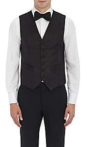 Barneys New York MEN'S SATIN TUXEDO WAISTCOAT-BLACK SIZE 50