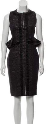 Altuzarra Peplum Knee-Length Dress Navy Peplum Knee-Length Dress