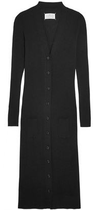 Maison Margiela - Ribbed Wool Cardigan - Black $1,145 thestylecure.com