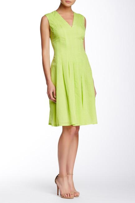 Anne KleinAnne Klein Sheer Novelty Degas Dress
