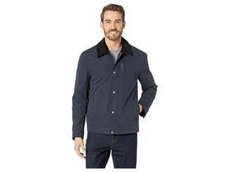Cole Haan City Rain Padded Barn Jacket with Corduroy Collar Men's Clothing