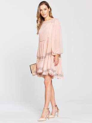 Milly Woman Laci Embellished Tulle Dress Blush Size 0 Milly Discount Fashion Style 5Y4KO1