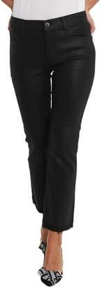 J Brand Bootcut Cropped Selena Jeans In Coated Denim