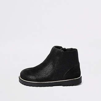 River Island Mini girls black boots