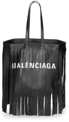 Balenciaga Laundry Cabas Leather Shoulder Bag