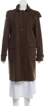 Loro Piana Fur-Trimmed Knee-Length Coat Fur-Trimmed Knee-Length Coat