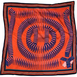 Hermes Carre 70 Orange Silk Silk handkerchief