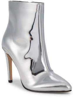 Maize Metallic Point Toe Ankle Boots