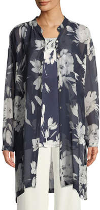 Go Silk Floral Silk Georgette Tunic