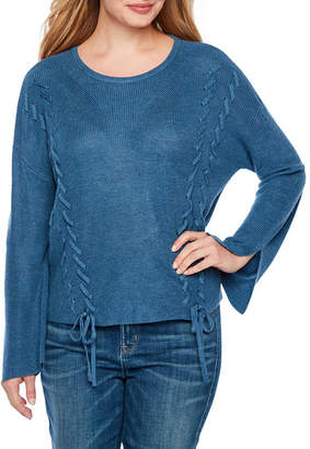 A.N.A Womens Scoop Neck Long Sleeve Pullover Sweater