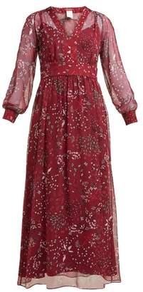 Max Mara Shock Dress - Womens - Burgundy Print