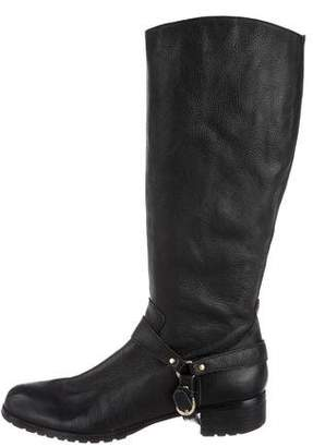 Corso Como Leather Round-Toe Boots