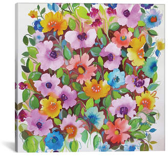"iCanvas Summer Violets"" By Kim Parker Gallery-Wrapped Canvas Print - 18"" x 18"" x 0.75"""
