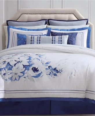 Charisma Alfresco Cotton Reversible 4-Pc. Floral Queen Duvet Cover Set Bedding
