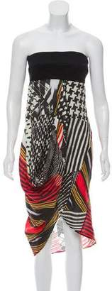 Zero Maria Cornejo Strapless Linen Dress