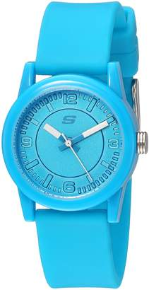 Skechers Women's Quartz Metal and Silicone Casual Watch, Color:Blue (Model: SR6096)
