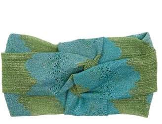 Missoni Striped eyelet-knit headband