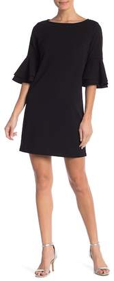 Boulevard Solid Tiered Bell Sleeve Shift Dress