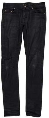 Saint Laurent D02 Coated Skinny Jeans