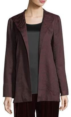 Eileen Fisher Silk-Blend Jacquard Wave Jacket