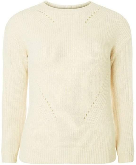 Womens Petite Ivory High Neck Jumper