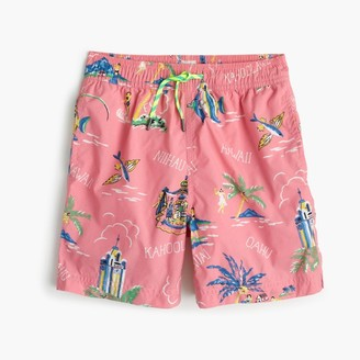 Boys' swim trunk in Hawaiian islands $55 thestylecure.com